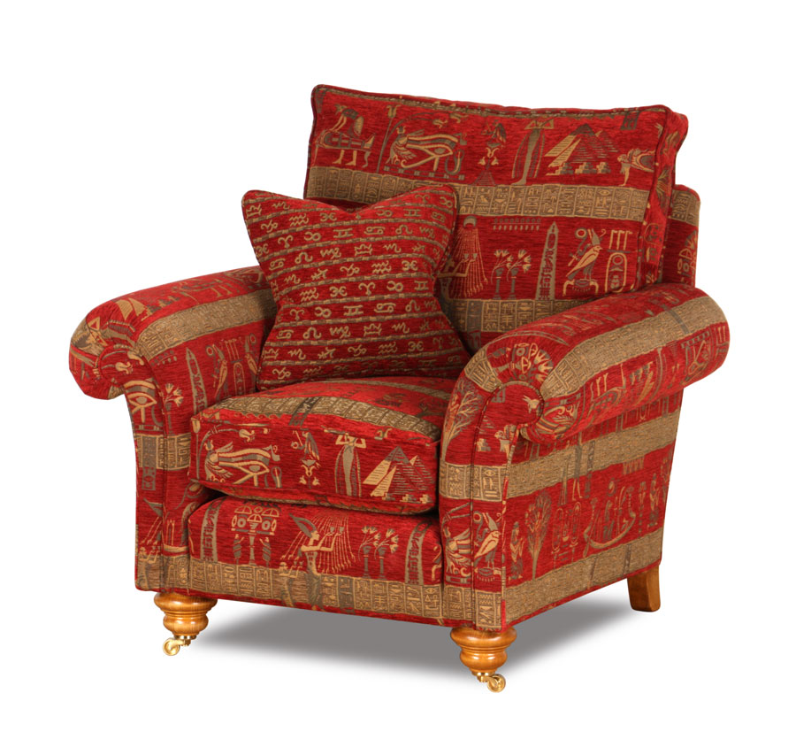 Baxter Sessel in Stoffbezug Cleopatra Red