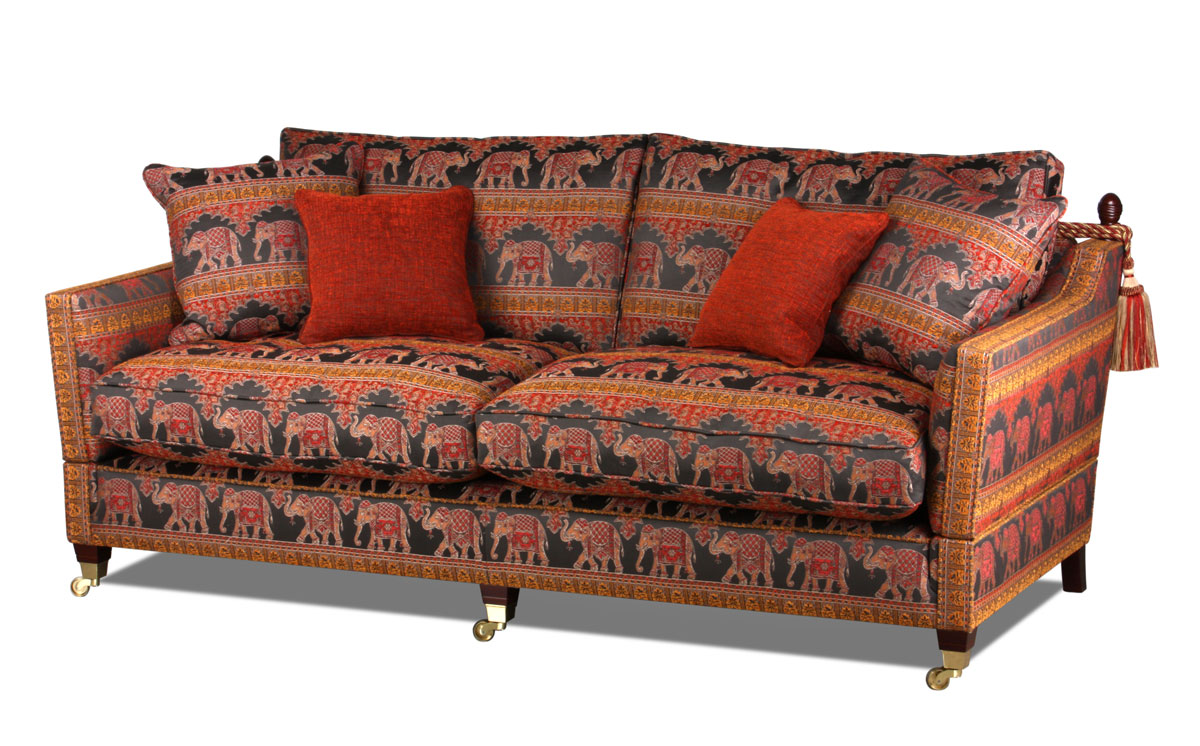 Knole Large Sofa in Stoffbezug Ceylon Flame